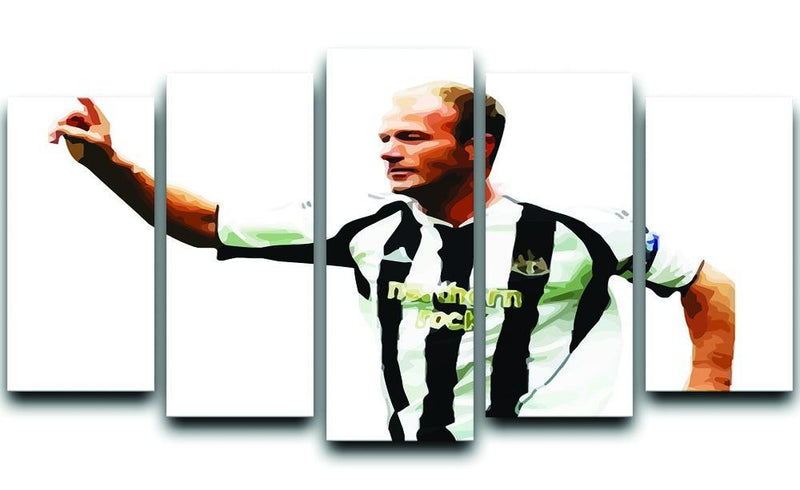 Alan Shearer Newcastle Goal Hero 5 Split Panel Canvas  - Canvas Art Rocks - 1