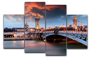 Alexandre 3 Bridge 4 Split Panel Canvas  - Canvas Art Rocks - 1