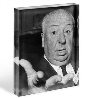 Alfred Hitchcock in 1960 Acrylic Block - Canvas Art Rocks - 1