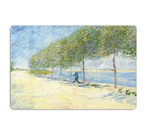 Along the Seine by Van Gogh HD Metal Print
