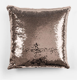 Personalised Unicorn Rose Gold Magic Reveal Cushion