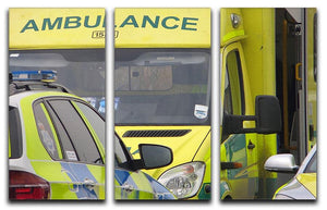 Ambulance and responder vehicles 3 Split Panel Canvas Print - Canvas Art Rocks - 1