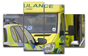 Ambulance and responder vehicles 4 Split Panel Canvas  - Canvas Art Rocks - 1