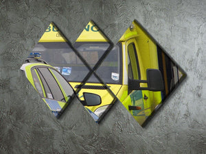 Ambulance and responder vehicles 4 Square Multi Panel Canvas  - Canvas Art Rocks - 2