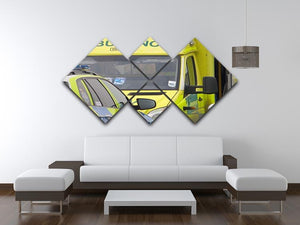 Ambulance and responder vehicles 4 Square Multi Panel Canvas  - Canvas Art Rocks - 3