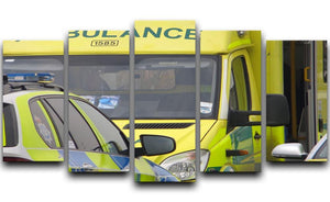 Ambulance and responder vehicles 5 Split Panel Canvas  - Canvas Art Rocks - 1