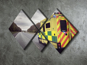 Ambulance responding to an emergency 4 Square Multi Panel Canvas  - Canvas Art Rocks - 2