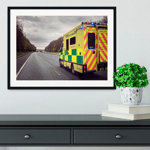 Ambulance responding to an emergency Framed Print - Canvas Art Rocks - 1