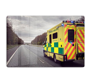Ambulance responding to an emergency HD Metal Print