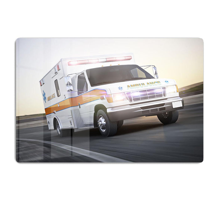 Ambulance running with lights and sirens HD Metal Print