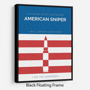American Sniper Minimal Movie Floating Frame Canvas - Canvas Art Rocks - 1