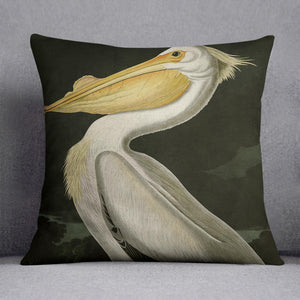 American White Pelican by Audubon Cushion