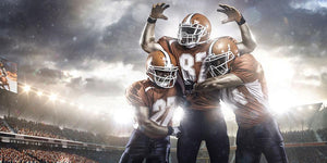 American football players Wall Mural Wallpaper - Canvas Art Rocks - 1