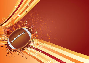American football sport design Wall Mural Wallpaper - Canvas Art Rocks - 1