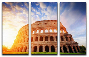 Amphitheatre in sunrise light 3 Split Panel Canvas Print - Canvas Art Rocks - 1