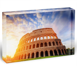 Amphitheatre in sunrise light Acrylic Block - Canvas Art Rocks - 1