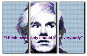 Andy Warhol 3 Split Canvas Print - Canvas Art Rocks