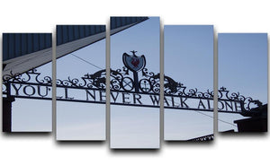 Anfield Gates 5 Split Panel Canvas  - Canvas Art Rocks - 1