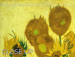Another vase of sunflowers 3 Split Panel Canvas Print - Canvas Art Rocks - 3