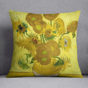 Another vase of sunflowers Cushion