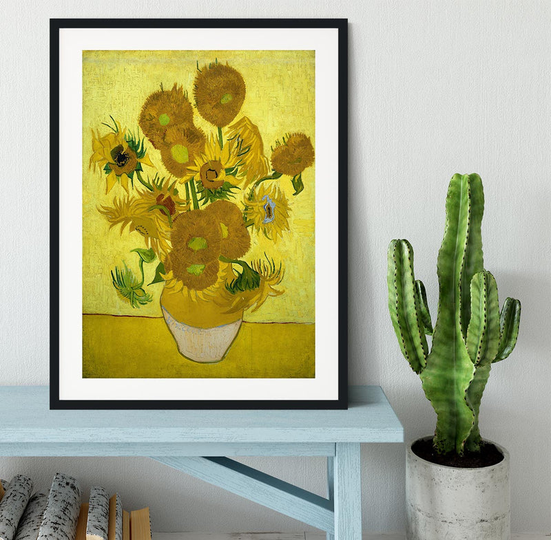 Another vase of sunflowers Framed Print - Canvas Art Rocks - 1