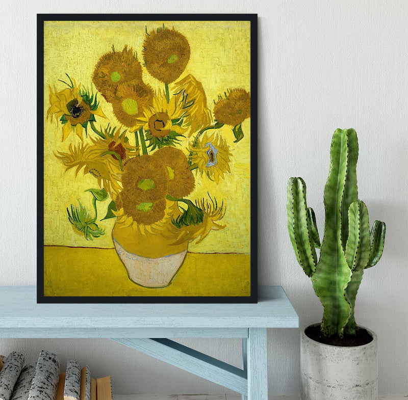 Another vase of sunflowers Framed Print - Canvas Art Rocks - 2