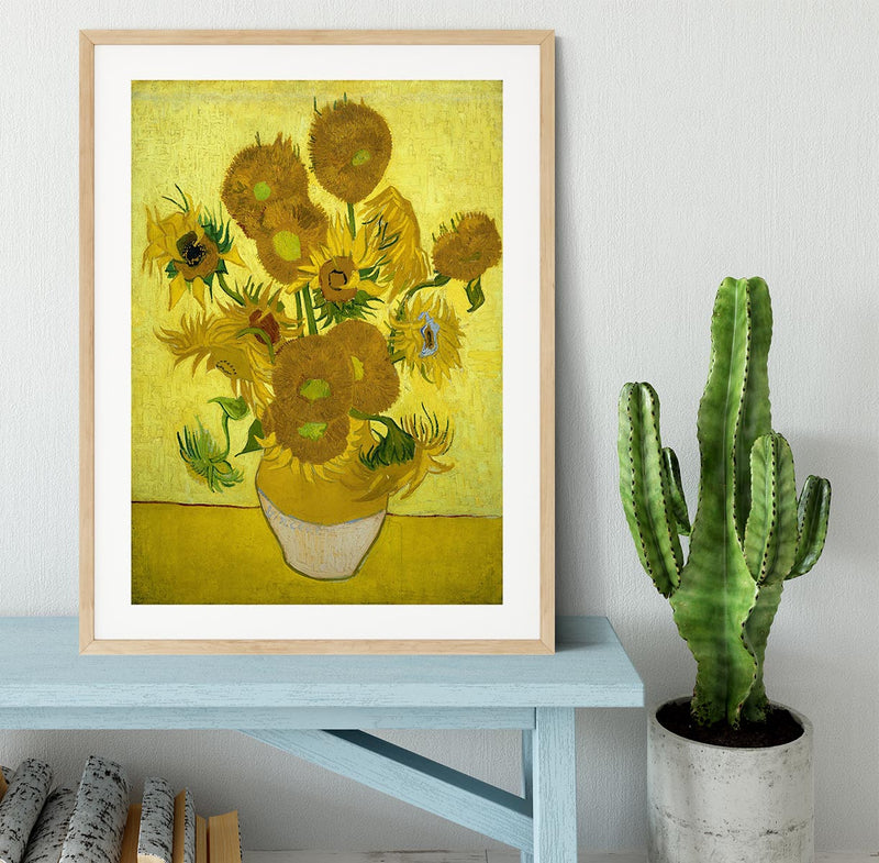 Another vase of sunflowers Framed Print - Canvas Art Rocks - 3