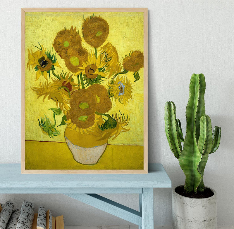 Another vase of sunflowers Framed Print - Canvas Art Rocks - 4