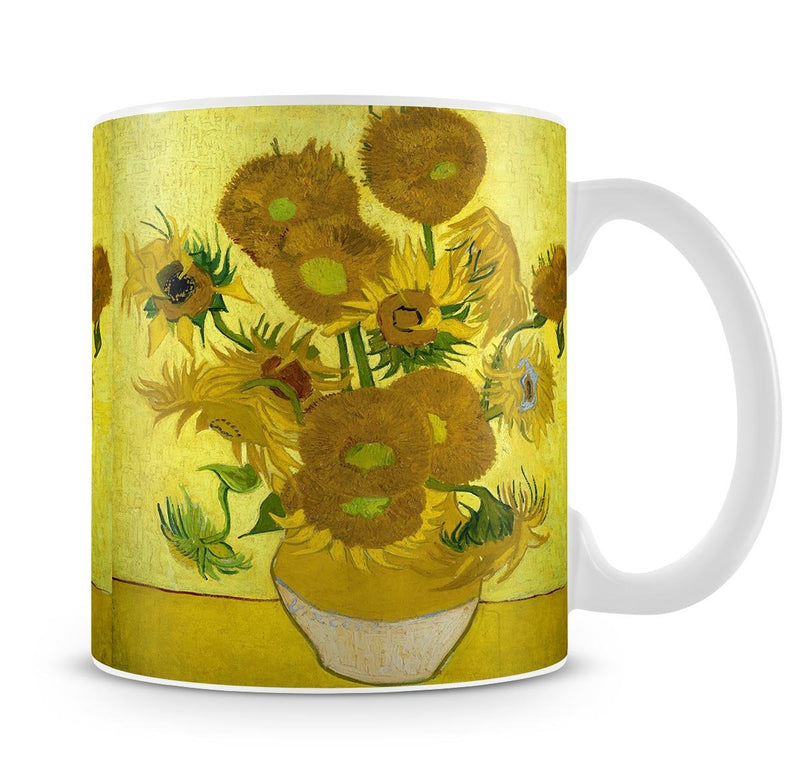 Another vase of sunflowers Mug - Canvas Art Rocks - 4