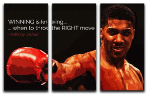 Anthony Joshua Winning Is Knowing 3 Split Panel Canvas Print - Canvas Art Rocks - 1
