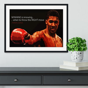 Anthony Joshua Winning Is Knowing Framed Print - Canvas Art Rocks - 1
