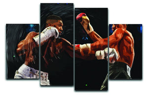 Anthony Joshua vs Klitschko Punch 4 Split Panel Canvas  - Canvas Art Rocks - 1