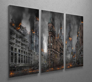 Apocalypse City 3 Split Panel Canvas Print - Canvas Art Rocks - 2