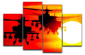 Apocalypse Now 4 Split Panel Canvas  - Canvas Art Rocks - 1