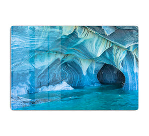 Aqua Marble Landscape HD Metal Print - Canvas Art Rocks - 1