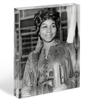 Aretha Franklin Acrylic Block - Canvas Art Rocks - 1