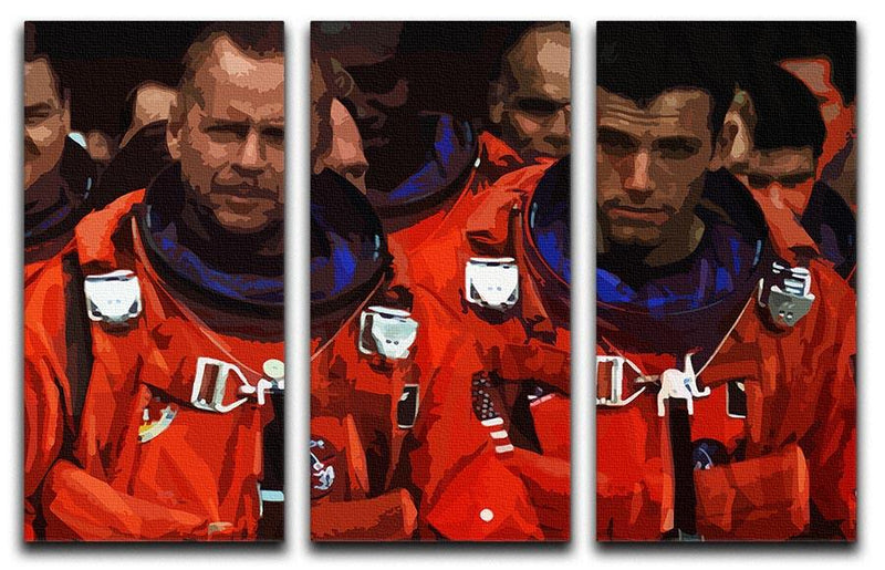 Armageddon 3 Split Panel Canvas Print - Canvas Art Rocks - 4