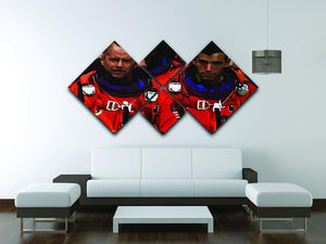 Armageddon 4 Square Multi Panel Canvas - Canvas Art Rocks - 3