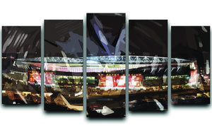 Arsenal Emirates Stadium 5 Split Panel Canvas  - Canvas Art Rocks - 1