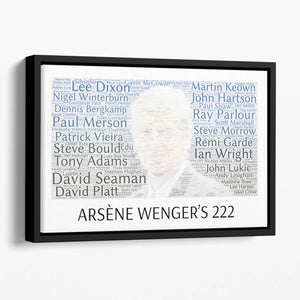 Arsene Wengers 222 Players Floating Framed Canvas