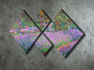 Artists Garden by Monet 4 Square Multi Panel Canvas - Canvas Art Rocks - 2