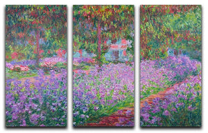 Artists Garden by Monet Split Panel Canvas Print - Canvas Art Rocks - 4