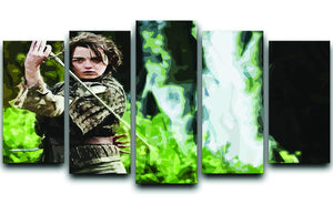 Arya from Game of Thrones 5 Split Panel Canvas  - Canvas Art Rocks - 1