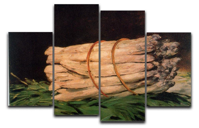 Asperagus by Manet 4 Split Panel Canvas
