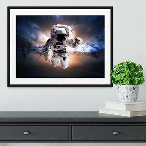 Astronaut in galaxy Framed Print - Canvas Art Rocks - 1
