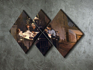 At the Table by Monet 4 Square Multi Panel Canvas - Canvas Art Rocks - 2