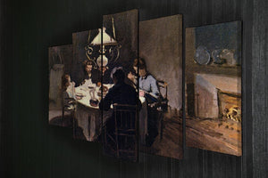 At the Table by Monet 5 Split Panel Canvas - Canvas Art Rocks - 2