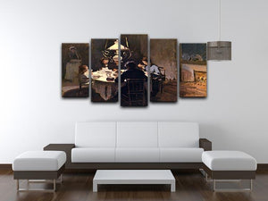 At the Table by Monet 5 Split Panel Canvas - Canvas Art Rocks - 3