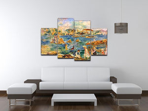 At the beach of Guernesey by Renoir 4 Split Panel Canvas - Canvas Art Rocks - 3