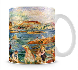 At the beach of Guernesey by Renoir Mug - Canvas Art Rocks - 1